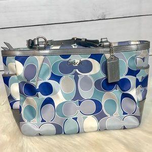 Coach Signature Scarf Print Handbag